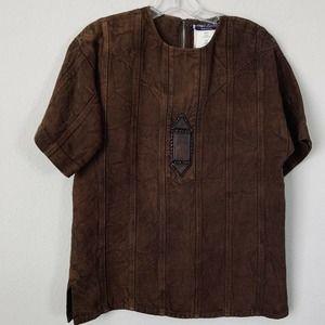 Ralph Lauren Canvas Washed Tobacco Sahara Top